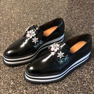 Zara embellished platform sneakers